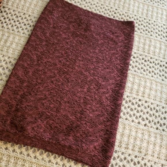 BCBGeneration Dresses & Skirts - BCBG Generation – LT. Wine Knit Tube Mini Skirt